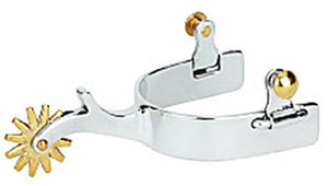 Men's Stainless Steel Plain Spurs - Animal Health Express