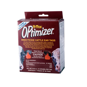 Y-Tex Optimizer Insecticide Ear Tags - Animal Health Express