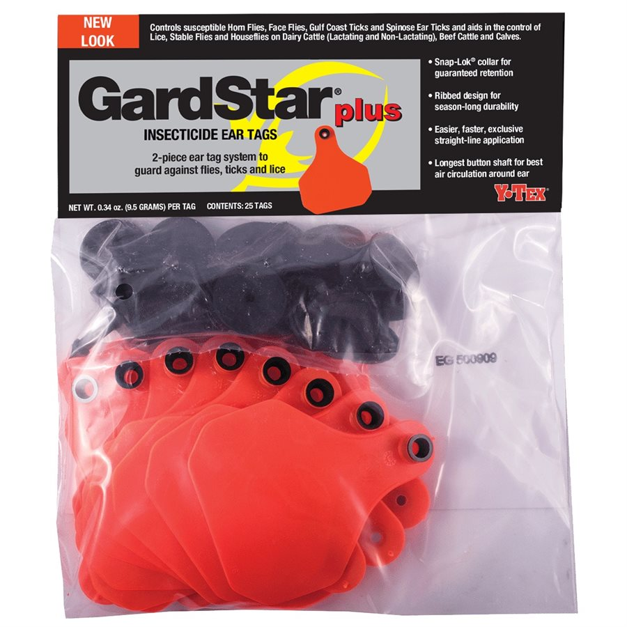 Y-Tex Gardstar Plus Insecticide Ear Tags - Animal Health Express