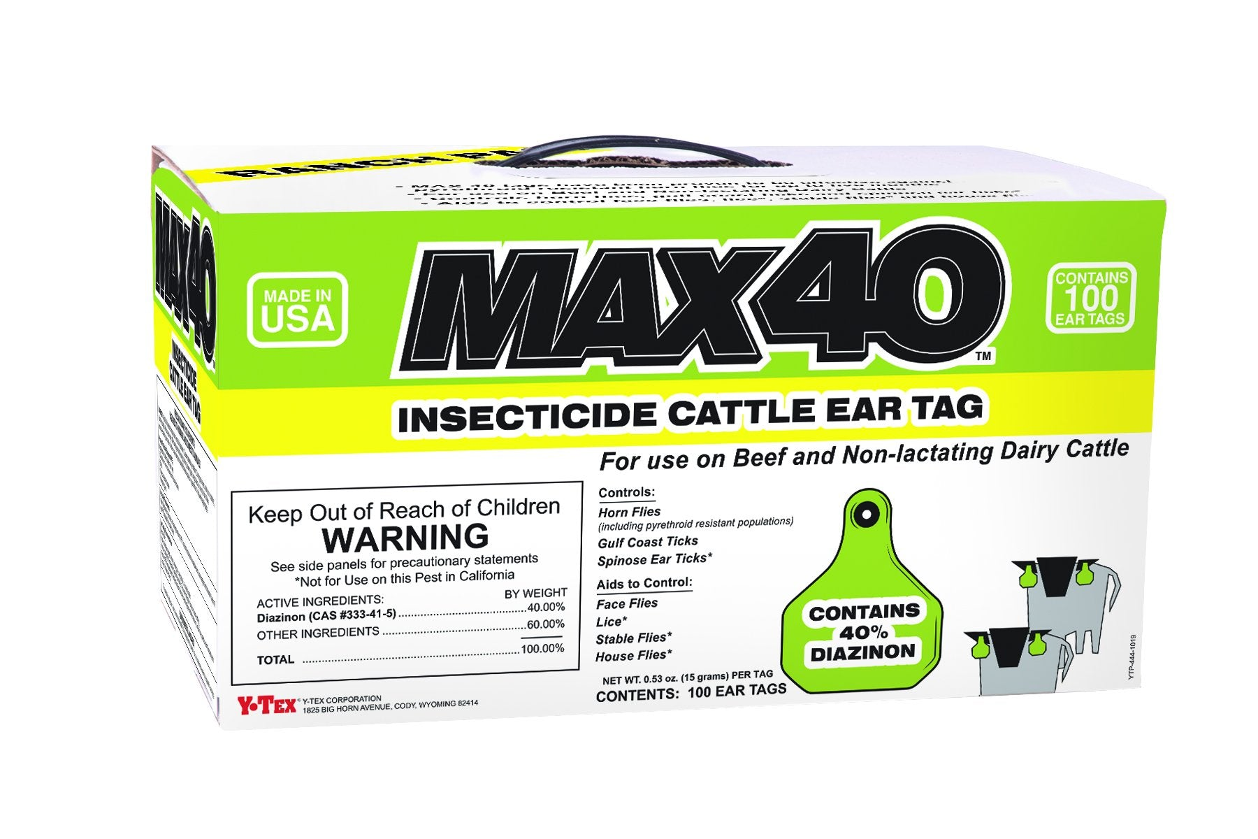 Load image into Gallery viewer, Y-Tex Max 40 Insecticide Fly Tag