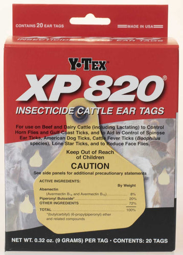 Y-Tex XP-820 Insecticide Cattle Ear Tags