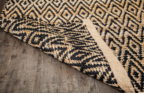 Zircon Black Diamond Jute & Cotton Rug Backing