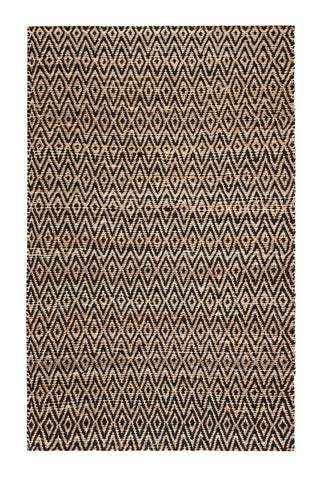 5' x 8' Zircon Black Diamond Jute & Cotton Rug