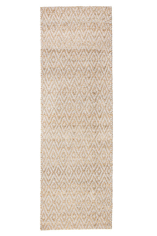 Zircon Gray Diamond Jute & Cotton Rug Runner