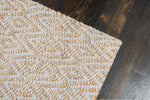 Zircon Gray Diamond Jute & Cotton Rug Weave Pattern
