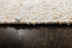 Zircon Gray Diamond Jute & Cotton Rug Edge Detail