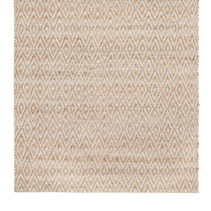 5' x 8' Zircon Gray Diamond Jute & Cotton Rug