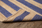 5' x 7' Harmony Navy Jute Rug Backing