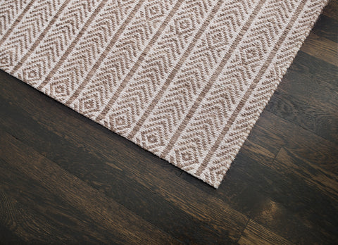 Russett Cotton & Jute Rug Weave Pattern