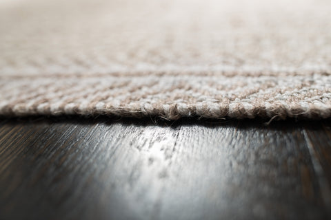 Russett Cotton & Jute Rug Edge Detail