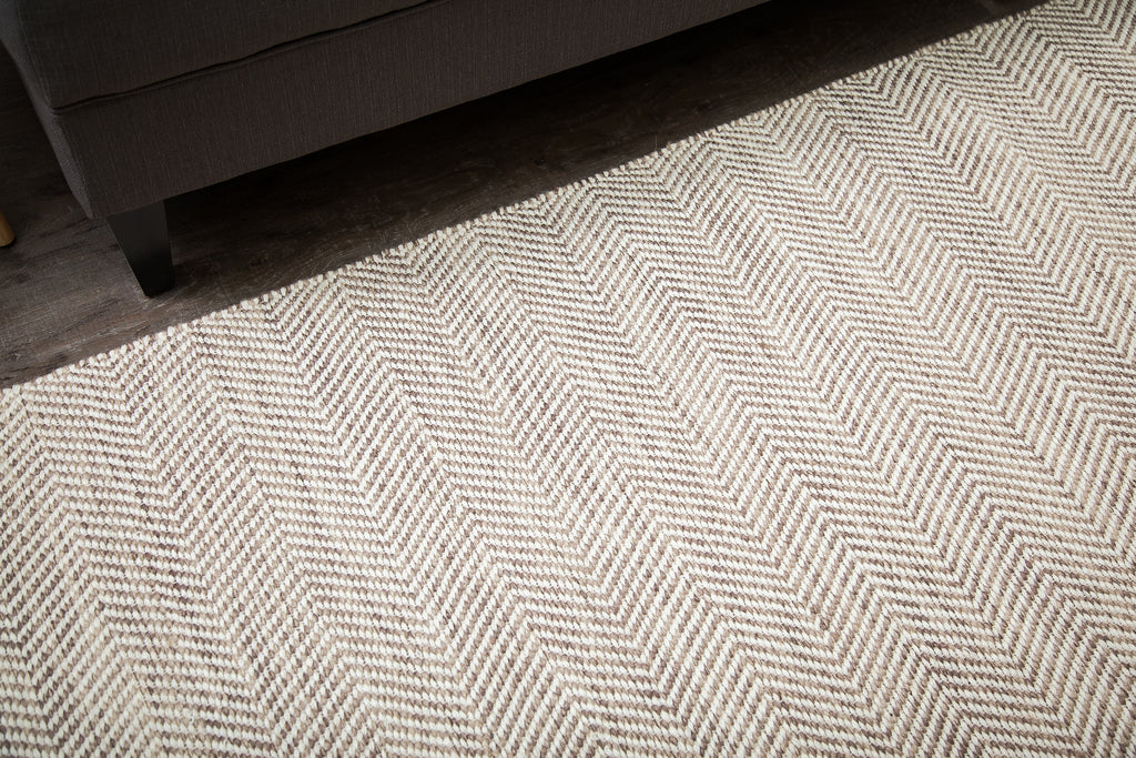 Zig Zag Zoom Jute & Cotton Rug Weave Pattern