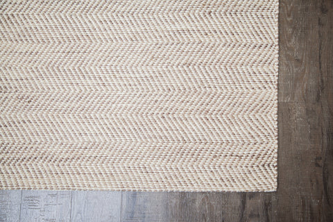 Zig Zag Zoom Jute & Cotton Rug Corner Detail