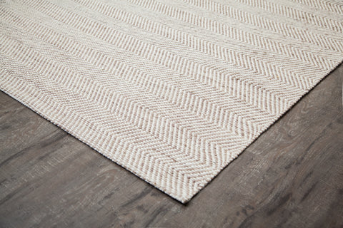Zig Zag Zoom Jute & Cotton Rug Edge Detail