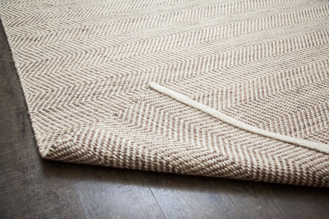 Zig Zag Zoom Jute & Cotton Rug Backing