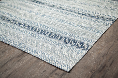 Hazel Hoo Cotton & Jute Area Rug Edge Detail