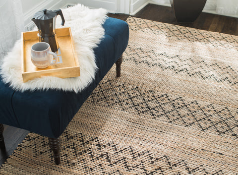 4' x 6' Black Creek Jute & Cotton Rug