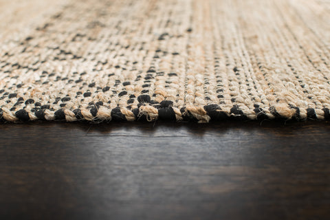 Black Creek Jute & Cotton Rug Edge Detail
