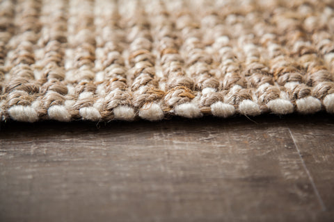 Moonstone Jute Rug Edge Detail