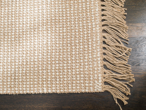 Sparrow Jute & Wool Rug Edge Detail with Fringe
