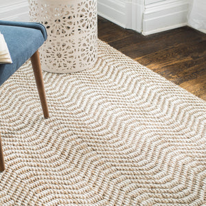 Dusty Waves Jute Rug