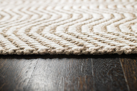 Dusty Waves Jute Rug Edge Detail