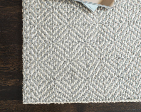 Powdered Stone Jute Flatweave Rug Weave Pattern