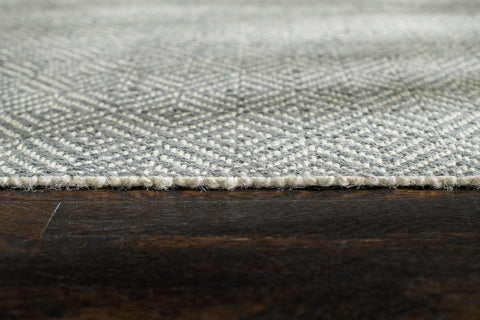 Powdered Stone Jute Flatweave Area Rug Edge Detail