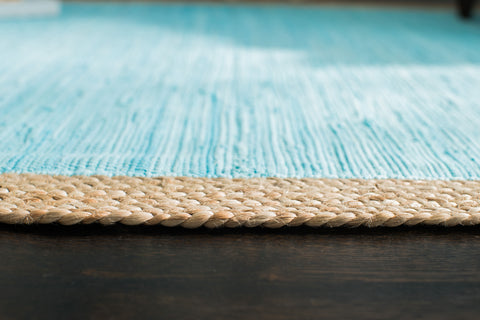 Robin's Egg Cotton & Jute Rug