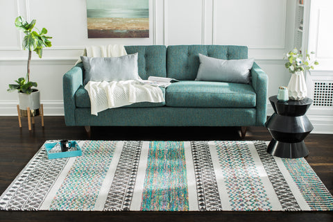 Calliope Wave Jute & PET Carpet 5' x 8' Area Rug
