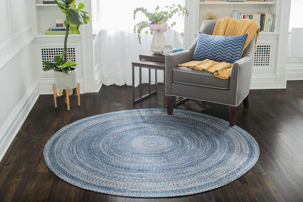 Aegean Surge Cotton & PET Round Area Rug