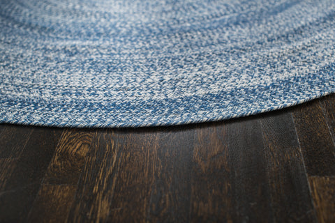 Aegean Surge Cotton & PET Round Area Rug Edge Detail