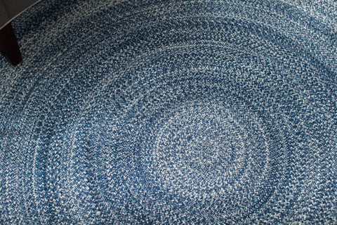 Aegean Surge Cotton & PET Round Area Rug Close Up Detail
