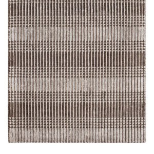 Brown Tufted Pillar Cotton Area Rug