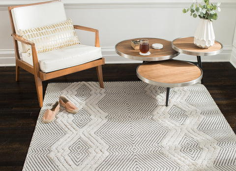 Tufted Diamonds Jute Blend Area Rug