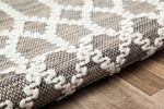 Seasoned Trellis Jute Blend Area Rug