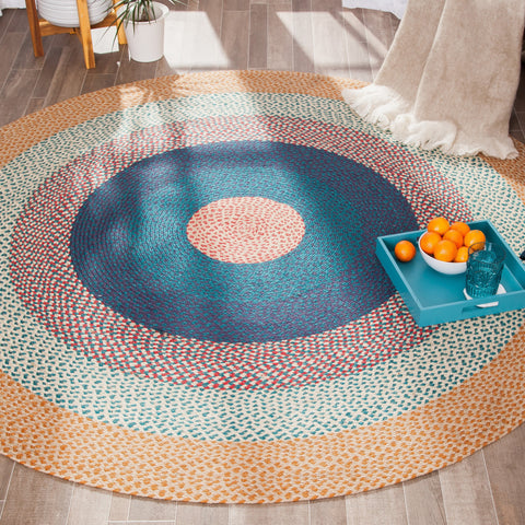 Country Realm Round Jute Area Rug