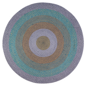 Lilac Bloom Round Jute Area Rug