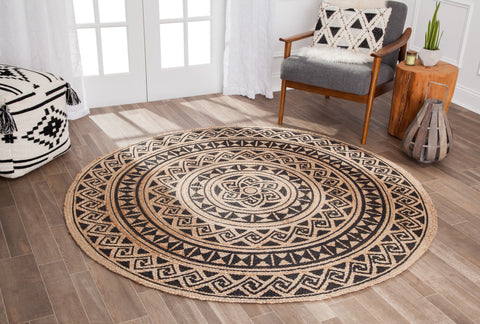 Slated Lotus Jute Area Rug