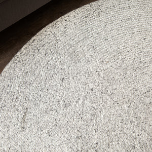Valais Wool & Cotton Round Area Rug