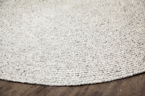 Valais Wool 8' Round Area Rug Close Up