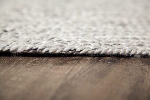 Valais Wool & Cotton Round Area Rug Close Up Detail