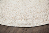 Thrasher Jute & PET Round Rug Close Up Detail