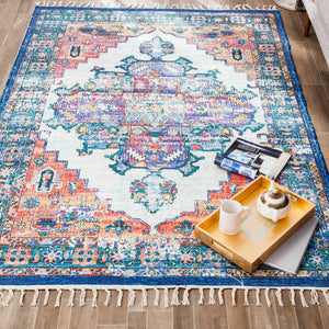 Violaceous Vibes Cotton Blend Rug