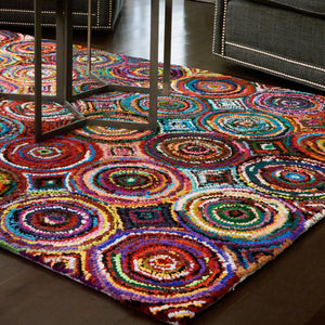 Kaleidoscope Cotton Rug