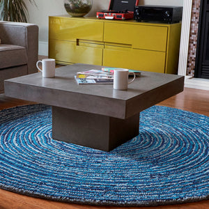 Ripple Effect Round Cotton Rug