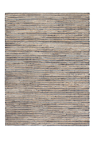 8' x 10' Bell Bottom Blues Cotton Area Rug