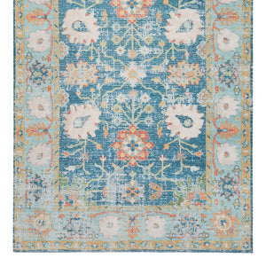Floral Bouquet Cotton Blend Area Rug