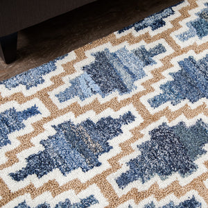 Diamondique Jute and Denim Rug