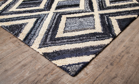 Shadow Denim and Jute Rug