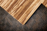 Strand-Woven Bamboo Chair Mat, With Lip